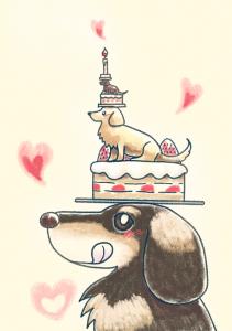 犬とケーキ(201407)